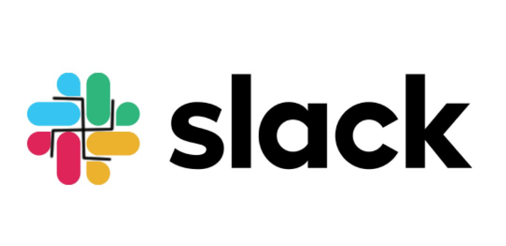 Slacks new logo that has shape of swastika highlighted in the negative space.